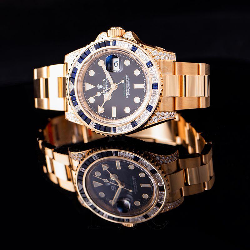 9c6a3a9c335665 ... ロレックス Rolex GMT Master II 40mm Yellow Gold 116758 Mens Watch 画像 4.  参照コード 116758SA