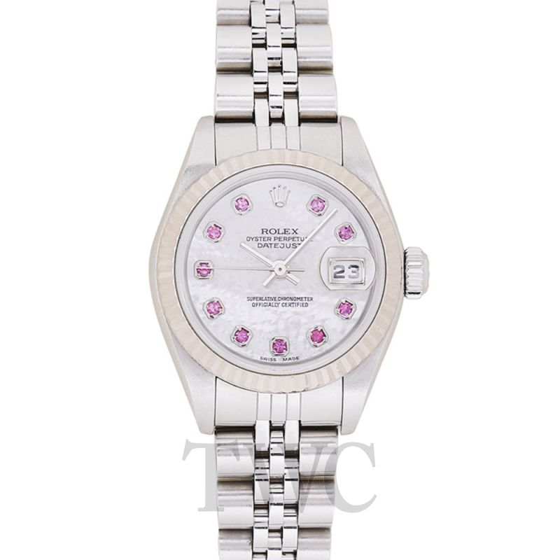 newest 6e2c4 07b80 Datejust 10P ruby white shell clockface/white gold 26mm