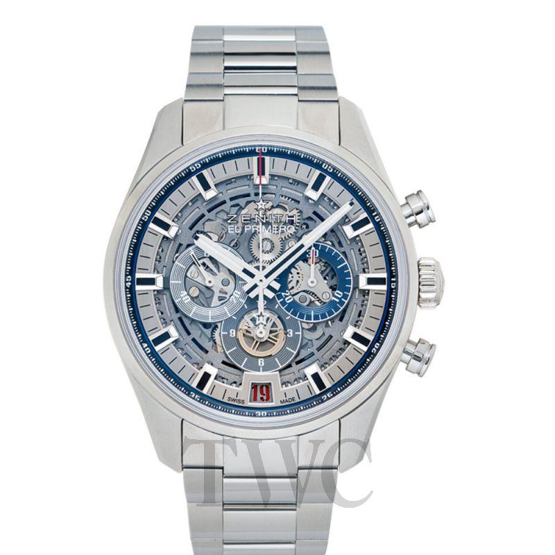 03.2081.400/78.M2040 Zenith Chronomaster El Primero Skeleton Dial Automatic Men's Chronograph Watch