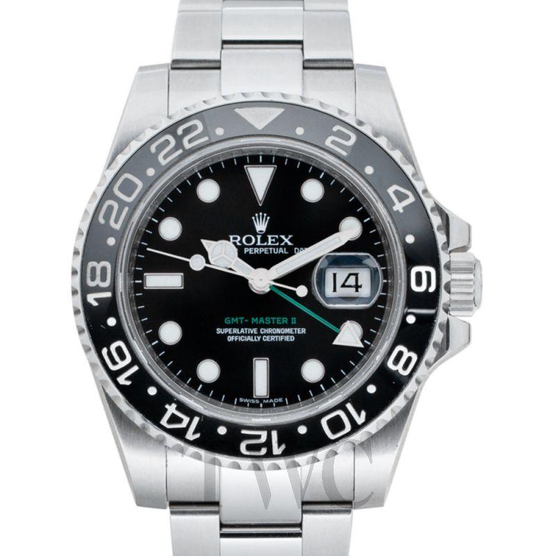 116710LN GMT-マスター II ブラック/スーチル 40mm