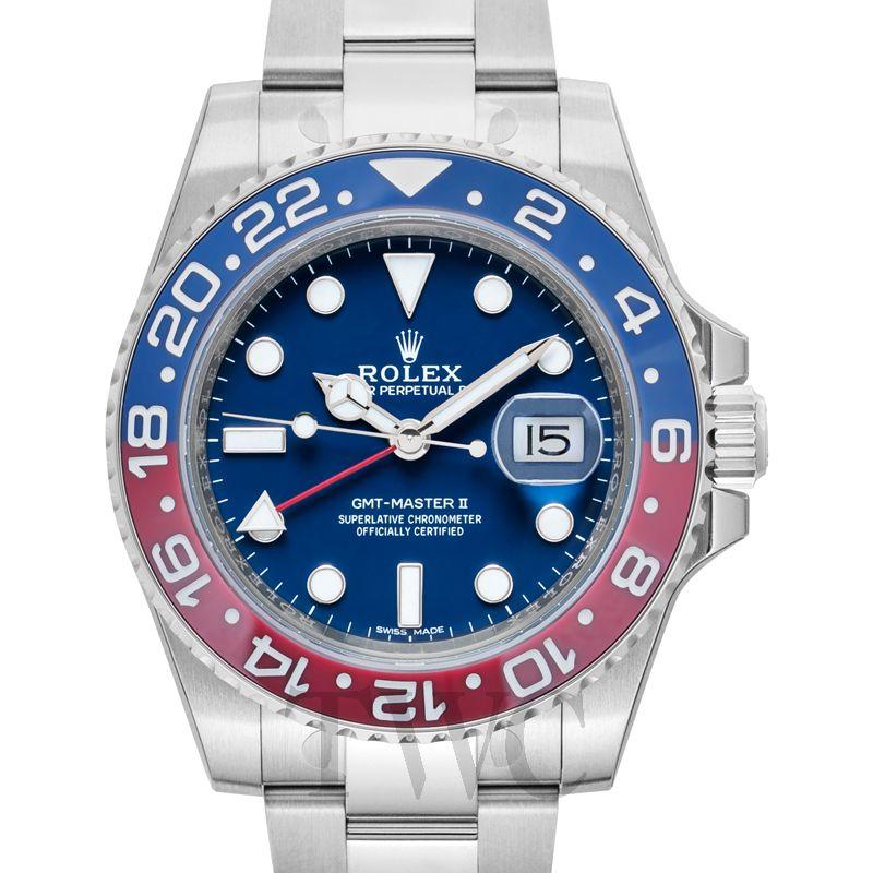 new style e896d 40d4f GMTマスターII 116719BLRO [オイスターブレスレット ブルー]