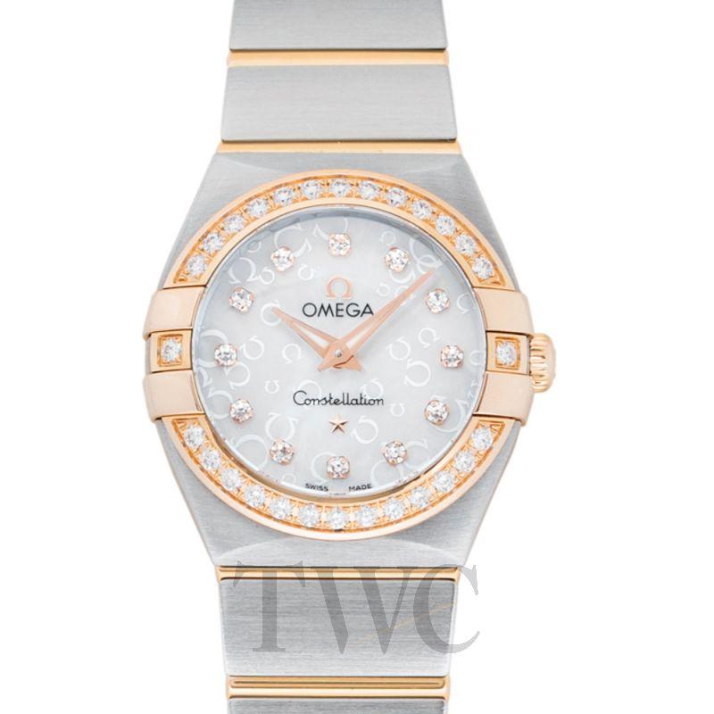 123.25.24.60.55.009 Omega Constellation Brushed Diamond Ladies Watch 24MM