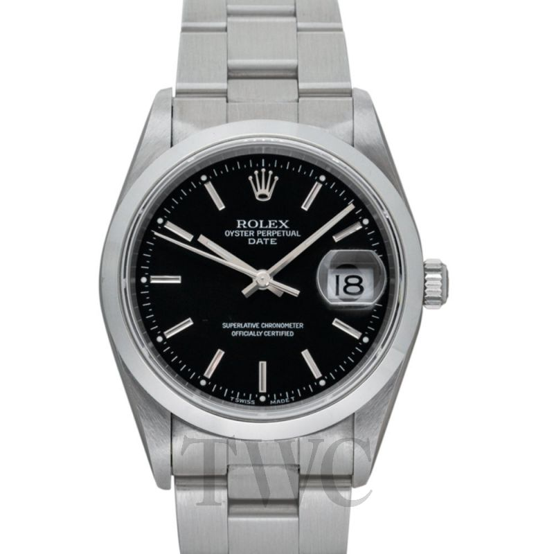 15200 Black Perpetual Date Black/Steel 34mm