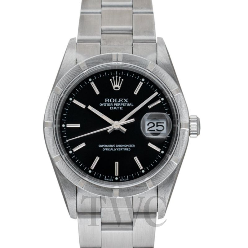15210 Black Perpetual Date Black/Steel 34mm