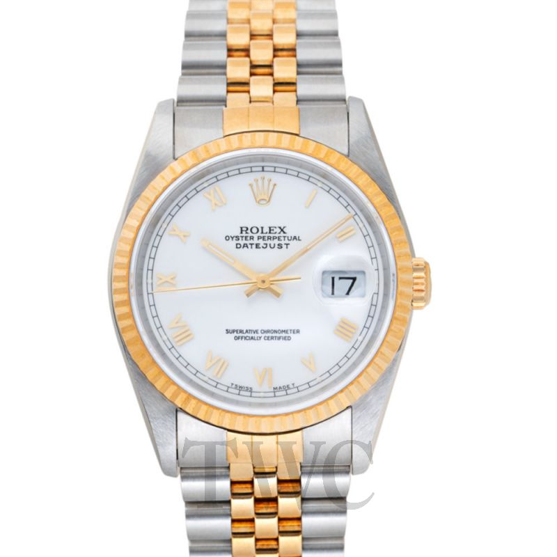 16233 Datejust White Roman Steel/18K gold Did Jubilee 36mm
