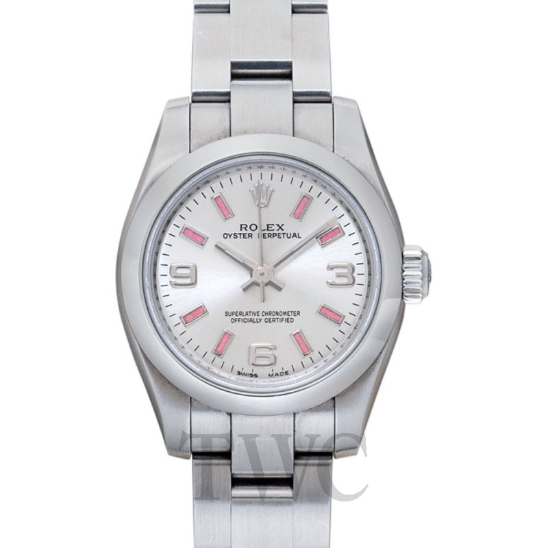176200 Lady Oyster Perpetual White/Steel 26 mm