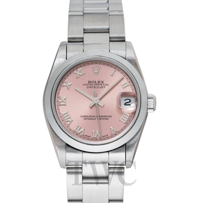 68240 Datejust Pink Dial Midsize Oyster Bracelet