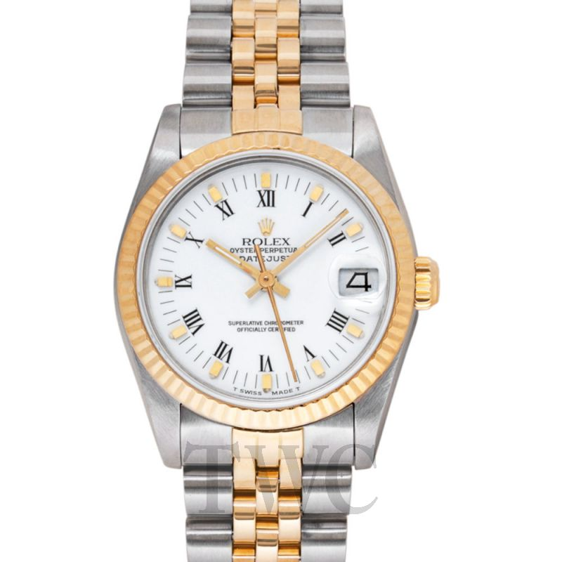 68273 Two-Tone Datejust  Mid-Size 31 mm White/Steel 31 mm