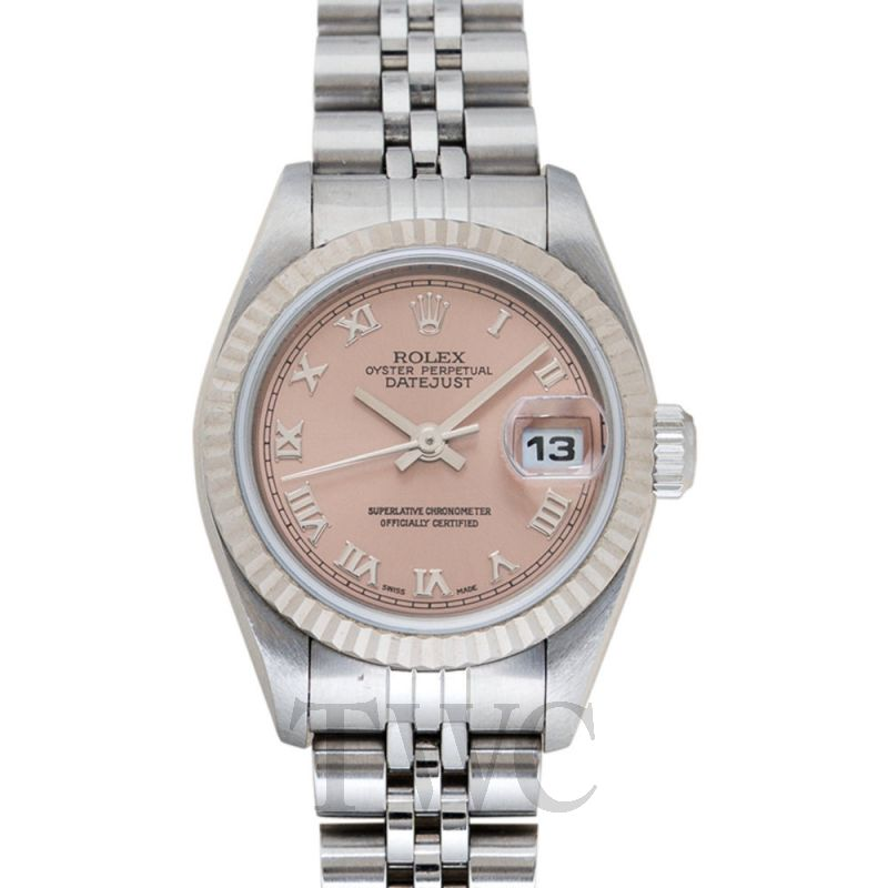 69174 Pink Datejust Salmon Roman Dial 26mm