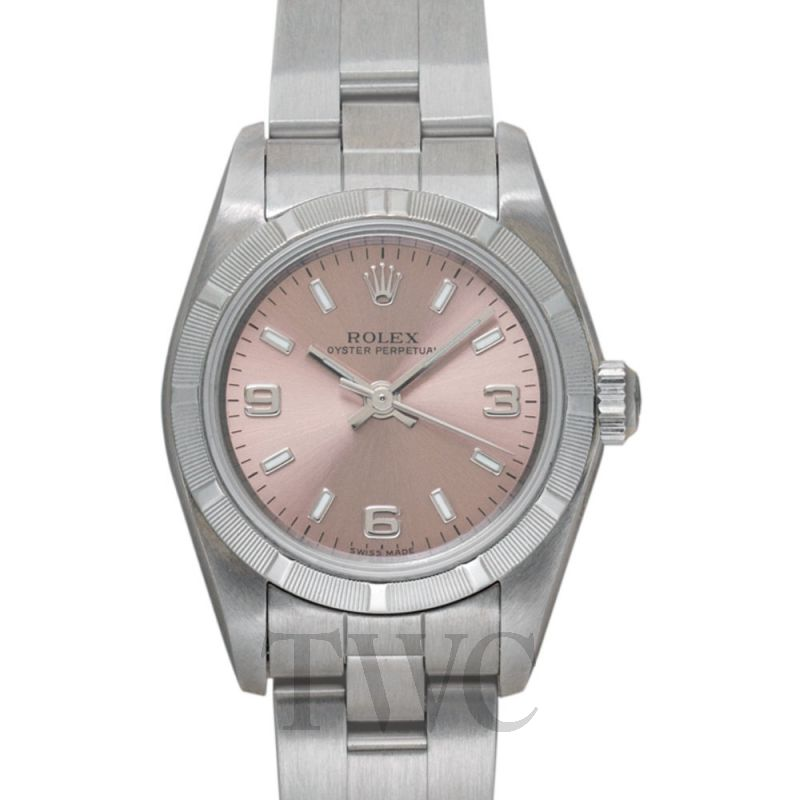 76030 Pink Rolex Lady Oyster Perpetual Salmon Quarter Arabic