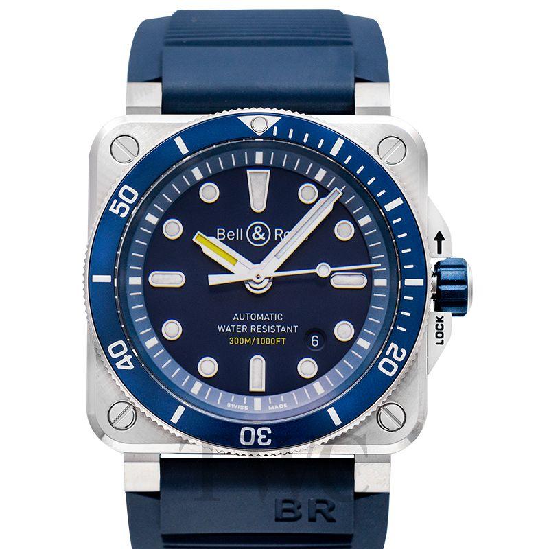 インストゥルメント BR 03-92 ダイバー ブルー BR0392-D-BU-ST/SRB