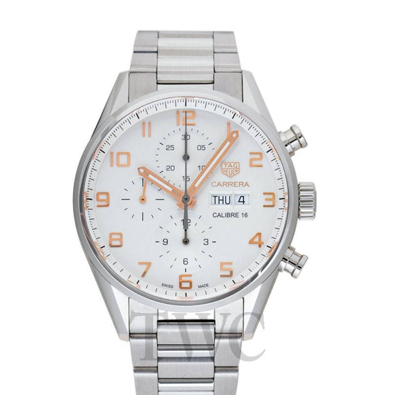 CV2A1AC.BA0738 Tag Heuer Carrera Chronograph Automatic Silver Dial Men's Watch