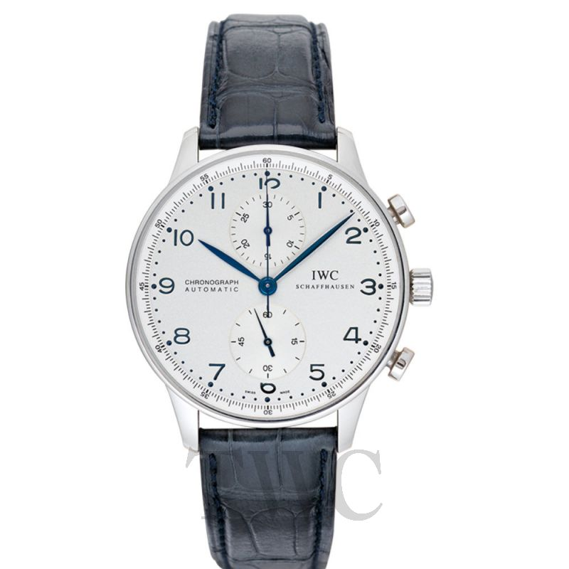 IW371417 Portugieser Chronograph White Steel/Leather 40.9mm