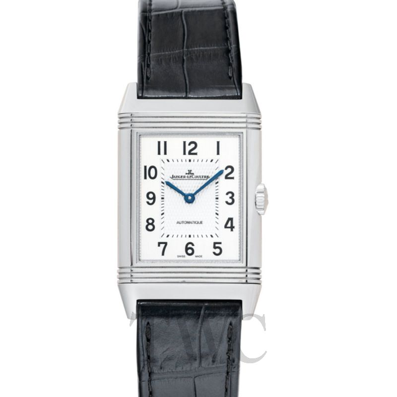 Q3828420 Reverso Classic Large Automatic Silver Steel/Leather 45.6mm x 27.4mm